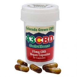 CBD Capsules 25mg - 43 CBD Solutions