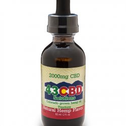 2000mg CBD Hemp Oil Tincture - 43 CBD Solutions